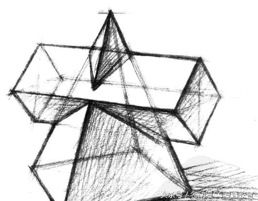 素描入门进阶教程   素描石膏几何体的结构画法教程