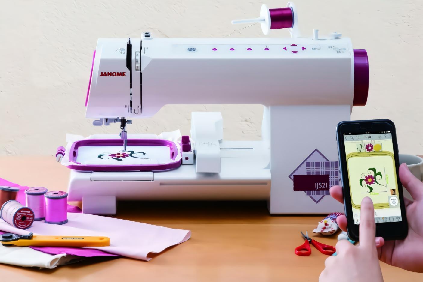 日本发明智能缝纫机,用手机控制,能自动绣出想要的图案