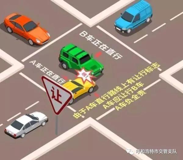 转弯未让直行,两车相撞!路口让行规则您真懂吗?