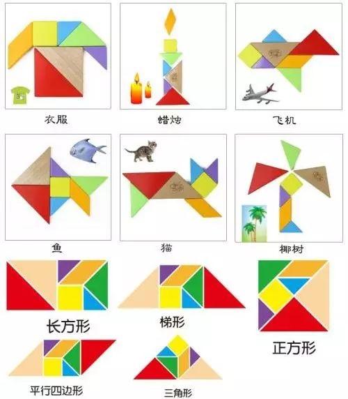 可以拼搭成几何图形,如三角形,平行四边形,不规则的多角形等;也可以