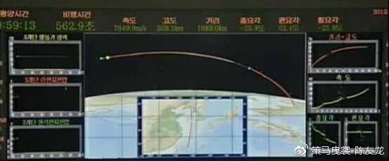 朝鲜银河3号火箭第三级使用了中段偏航技术