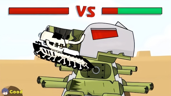 坦克世界动画:打kv44可要了小坦克老命了图片