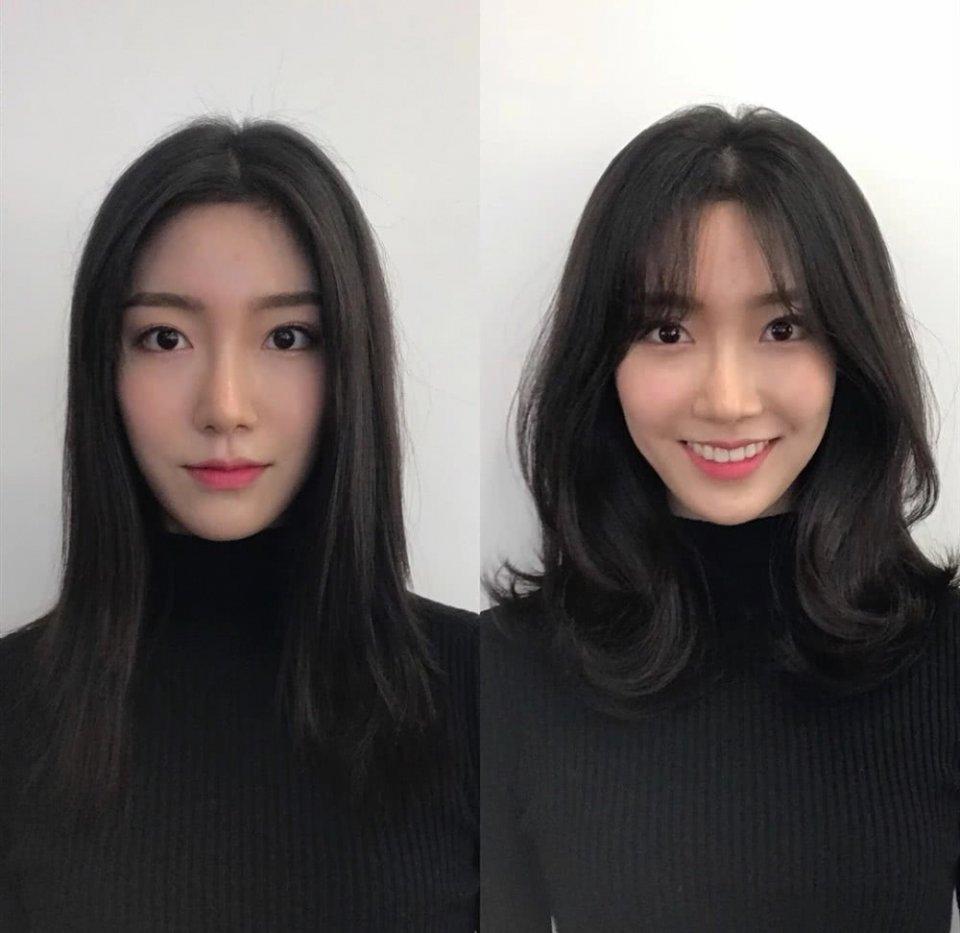 女生比较大适合发型?头发染造型比较颜色脸型头发小学长发图片