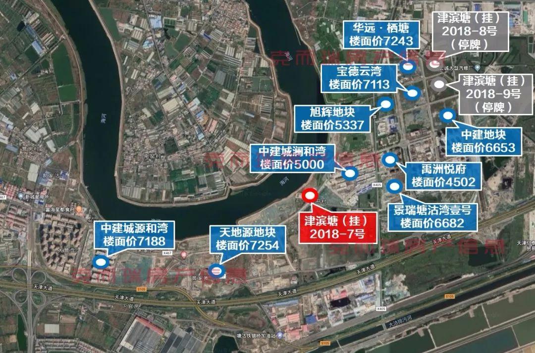 芦台镇是宁河区人民政府所在地 塘沽湾新挂土地