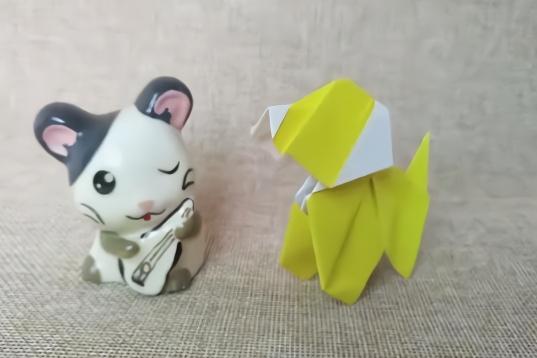 折纸教学,呆萌可爱的小狗折纸, 领一个带回家吧