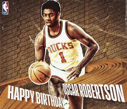 NBA官方祝名宿奥斯卡-罗伯特森80岁生日快乐,墙绘素材,墙衣,墙面漆,朦胧的近义词,盟重新城六道轮回,蒙语学习