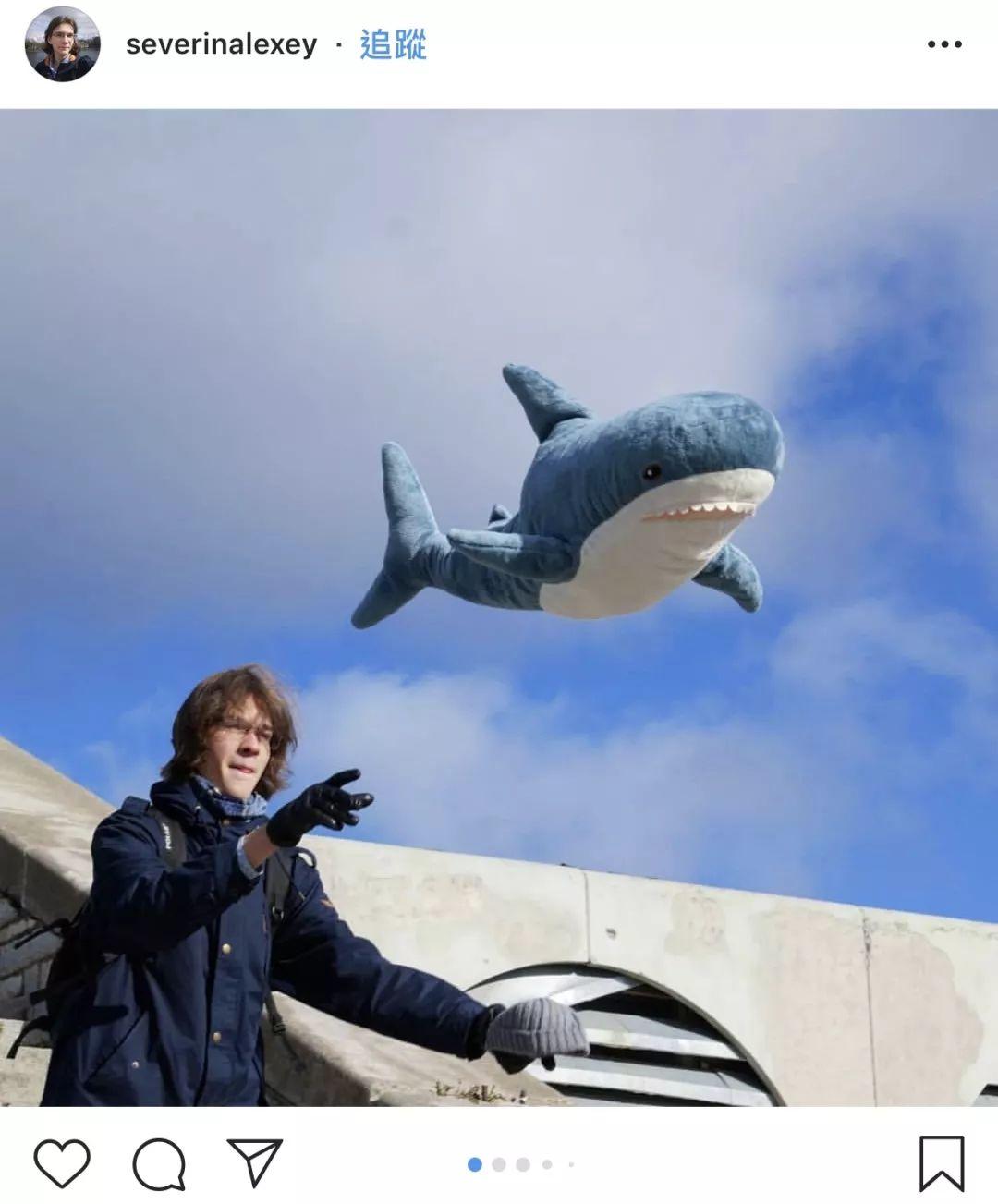 下面分享一对情侣头像:智障儿童欢乐多 这只长约一米的鲨鱼公仔叫blh