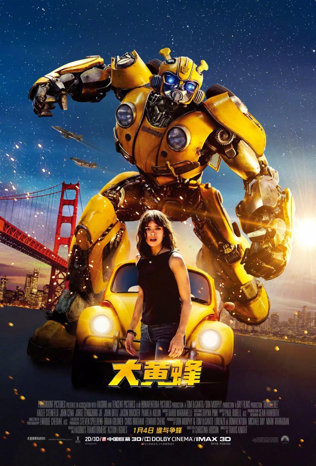 腾讯影业与派拉蒙影业联合出品电影《大黄蜂》和《壮志凌云》续集