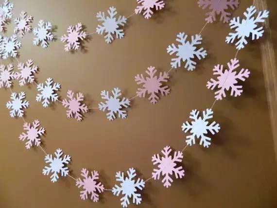 这样的冬季幼儿手工雪花吊饰,幼儿园马上变美!