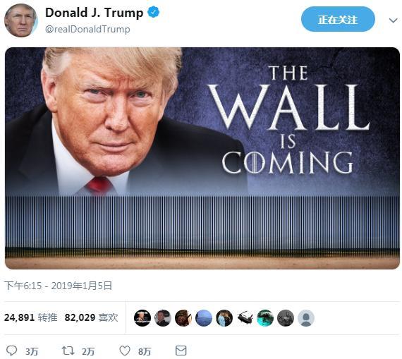 """特朗普挟持百万美国人当""""人质"""",作为边境墙谈判筹码?"""