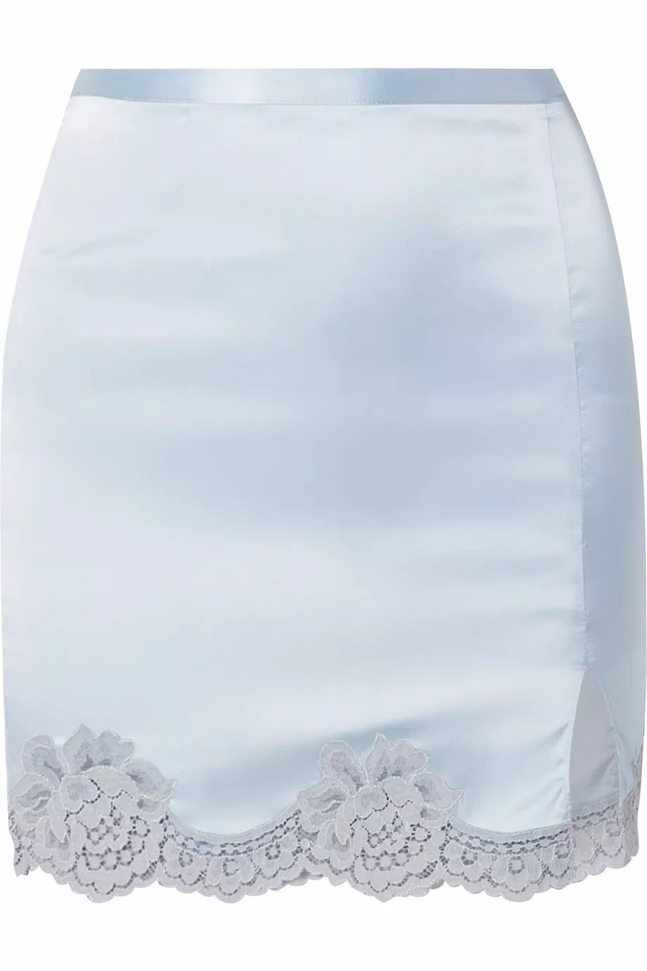 布边/jy���l#�ad�i���'9��_fleur du mal 蕾丝边饰真丝混纺缎布迷你半身裙