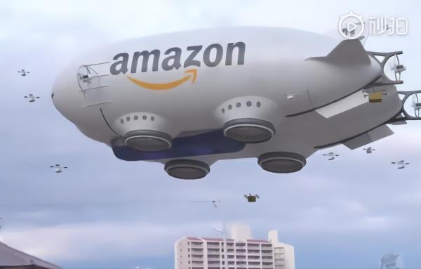 空中航母?亚马逊飞艇快递曝光 里面全是无人机!-平板电脑推荐