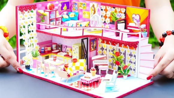 diy迷你版豪华公主屋,布置得精致温馨,这样的卧室女孩都想要!
