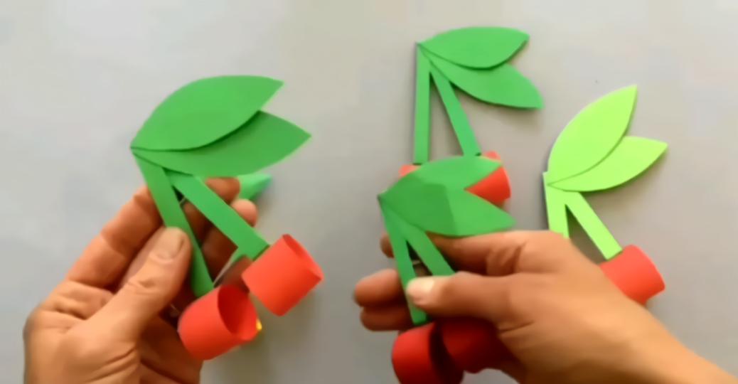 diy手工制作幼儿园亲子手工樱桃制作教程