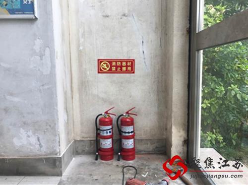 果场社区增设消防器材 提升小区消防宁静