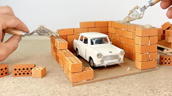 纸板玩具diy,手工制作本田奥德赛汽车,真的很好玩图片