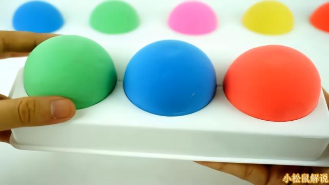 橡皮泥亲子手工制作小猪佩奇彩虹保龄球