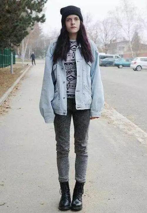 指南马丁靴搭配冬冬季酷girl女生问问女生什么这是图片