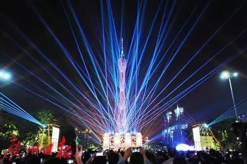 作为广州市地标-广州塔,锐丰文化携手国际顶尖灯光秀德国设计师团队图片