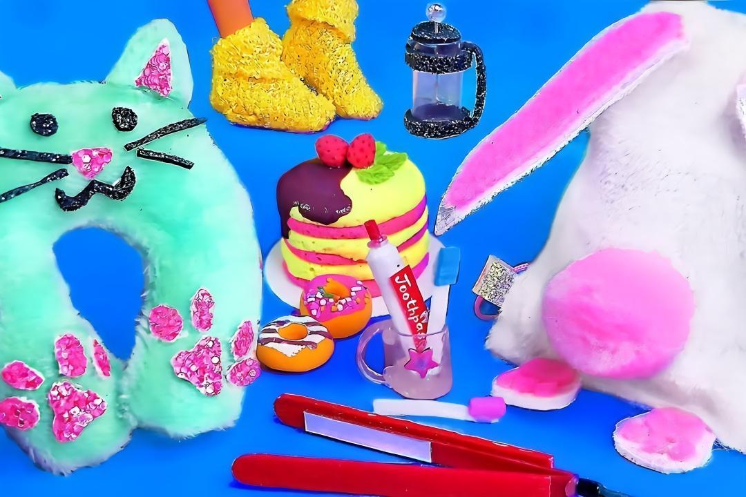 给芭比娃娃做迷你包包鞋子等物品,做法简单,手工diy