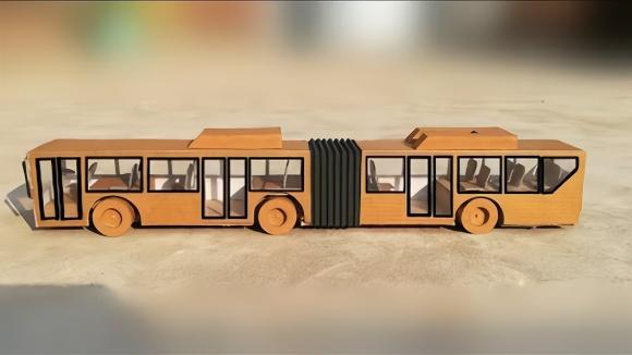 创意手工视频 纸板制作大巴士玩具