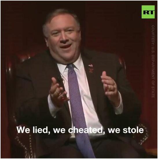 """美国务卿称""""我们撒谎、欺骗和偷盗"""" 俄媒:罕见"""