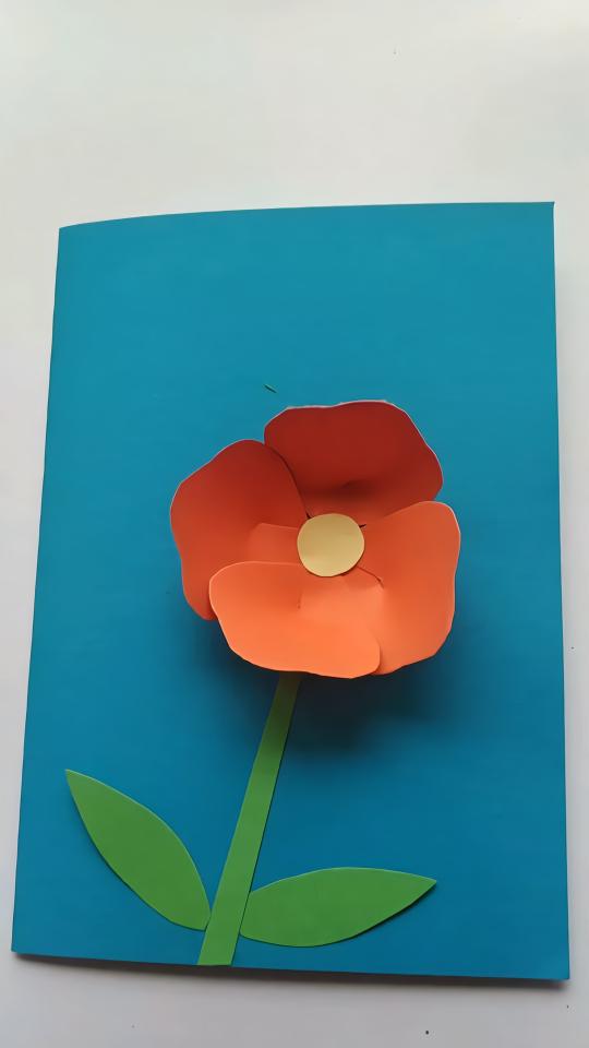 diy手工制作 小纸花朵贺卡
