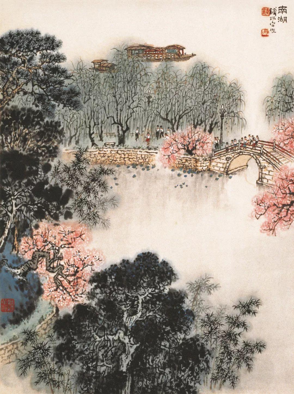 凤凰水性笔风景画