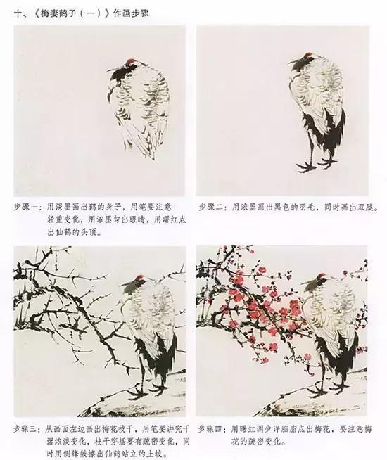 国画仙鹤的画法,超详细讲解!
