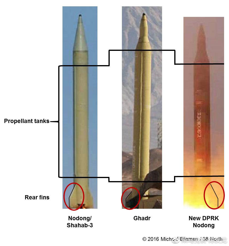 """""""火星-7""""改进型,其弹头外形与2004年露面的伊朗""""流星-3B""""导弹极为相似"""