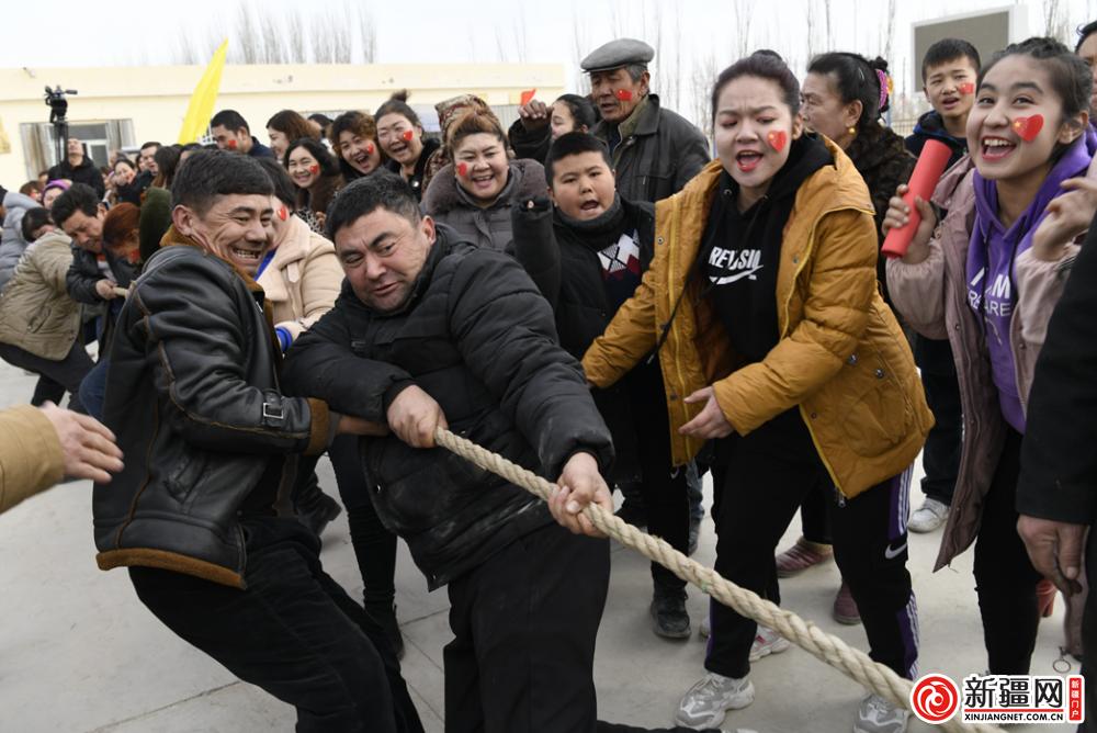 新疆尉犁:新春趣味运动