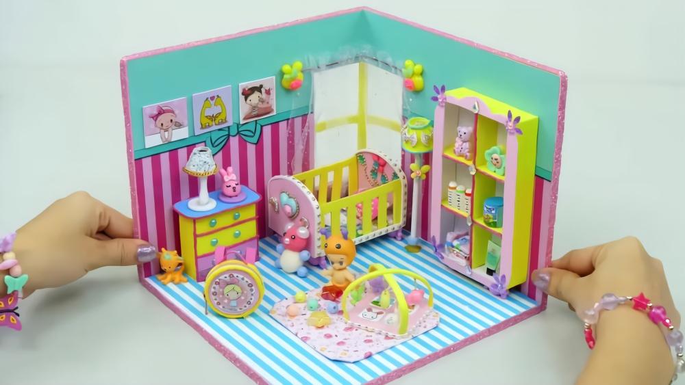diy,手工制作迷你儿童房,玩具和婴儿用具很赞哦!