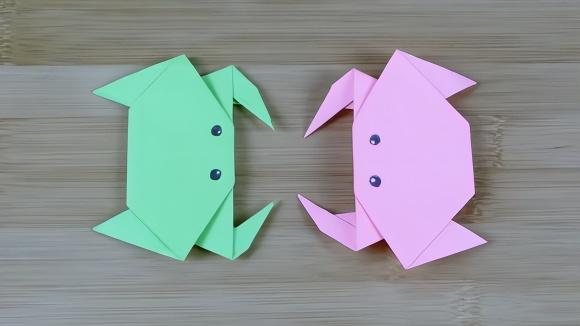 儿童折纸:教你折一只可爱的小螃蟹,小朋友都喜欢,简单易学习