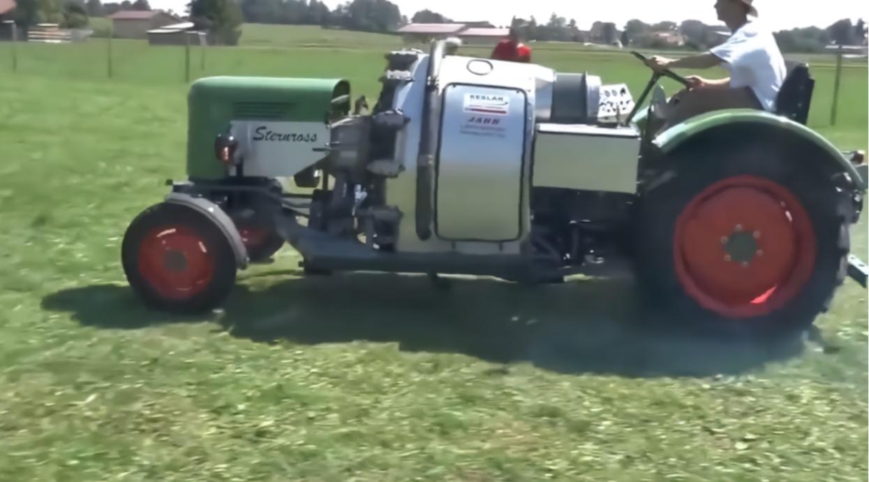 老外提升拖拉机的动力,将飞机发动机装在拖拉机上,启动后会怎样图片