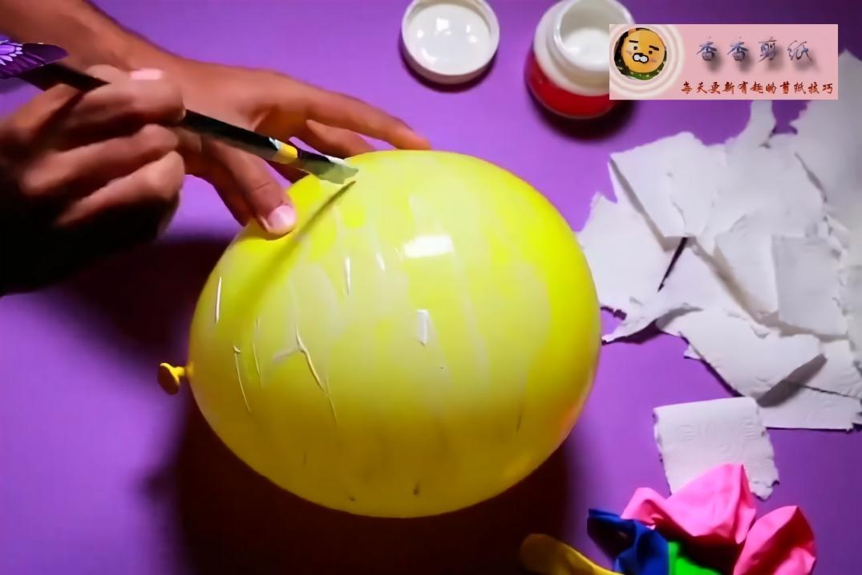 香香剪纸,教你用气球和卫生纸diy一个超漂亮的月亮,创意生活