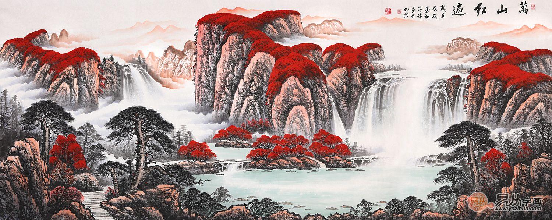 客厅装饰画挂什么 挂国画山水给生活来点仪式感