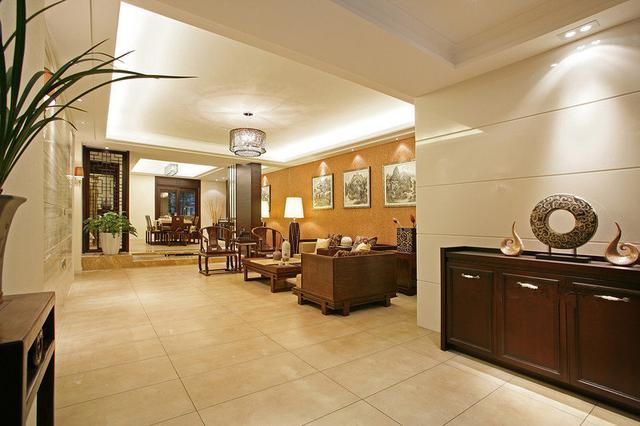 刚刚装好的196㎡四居室,古典又温馨的新中式,邻里都夸漂亮