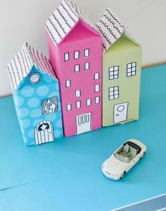 小小传承人:幼儿园环创幼儿园手工,纸盒废物利用,创意制作