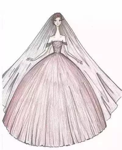 看着如此唯美的手绘婚纱礼服,你是不是也想结婚了?