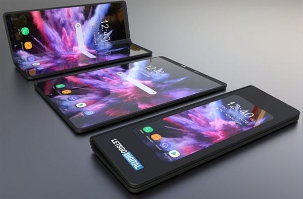 三星折叠屏手机渲染外形出炉:很好很强大