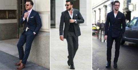 温馨提示   切尔西靴最适合的裤子是:贴身西裤,贴身深色牛仔裤或