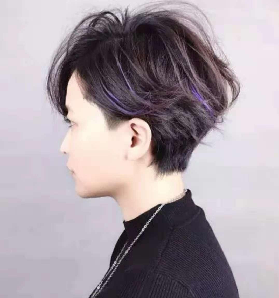 女士短发烫发_女式短发烫发图片 v118.com