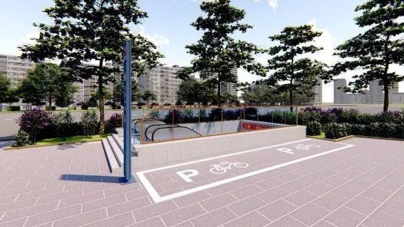 地铁临潼线(9号线)车站出入口及风亭等造型设计方案,结合了西安地域
