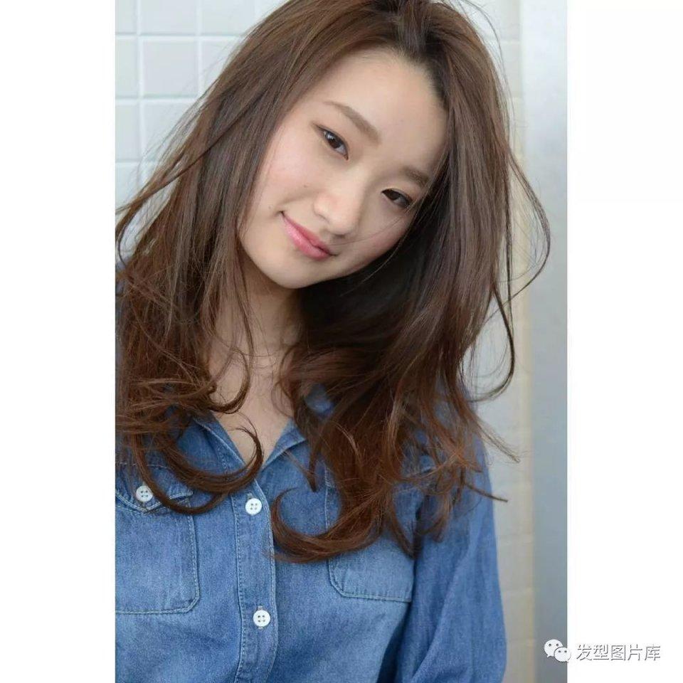 实拍:日本发廊发型发的湿发短发造型胖脸烫什么样长卷图片