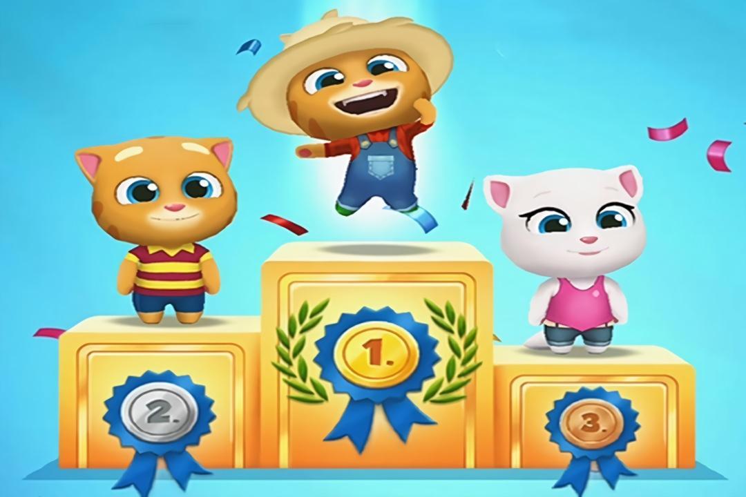 色农夫影院_汤姆猫跑酷儿童游戏 农夫金杰猫战胜安吉拉夺得冠军