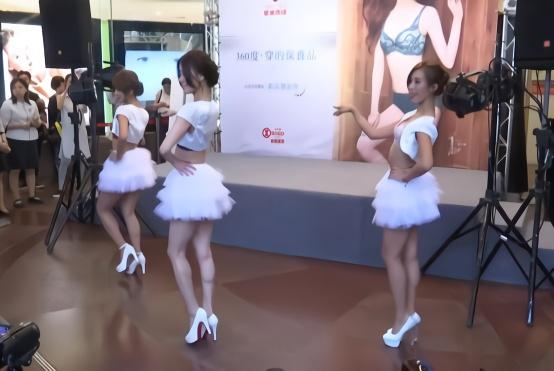 时尚内衣模特舞蹈表演 时装走秀