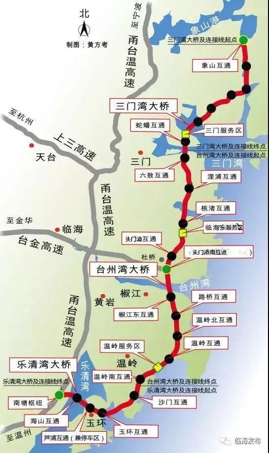 台州沿海高速公路工程又称浙江省甬台温高速公路复线台州段,由台州湾