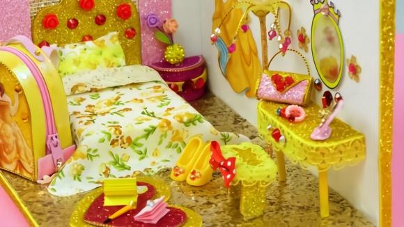 贝拉公主的美丽卧室 微型玩具模型diy手工制作