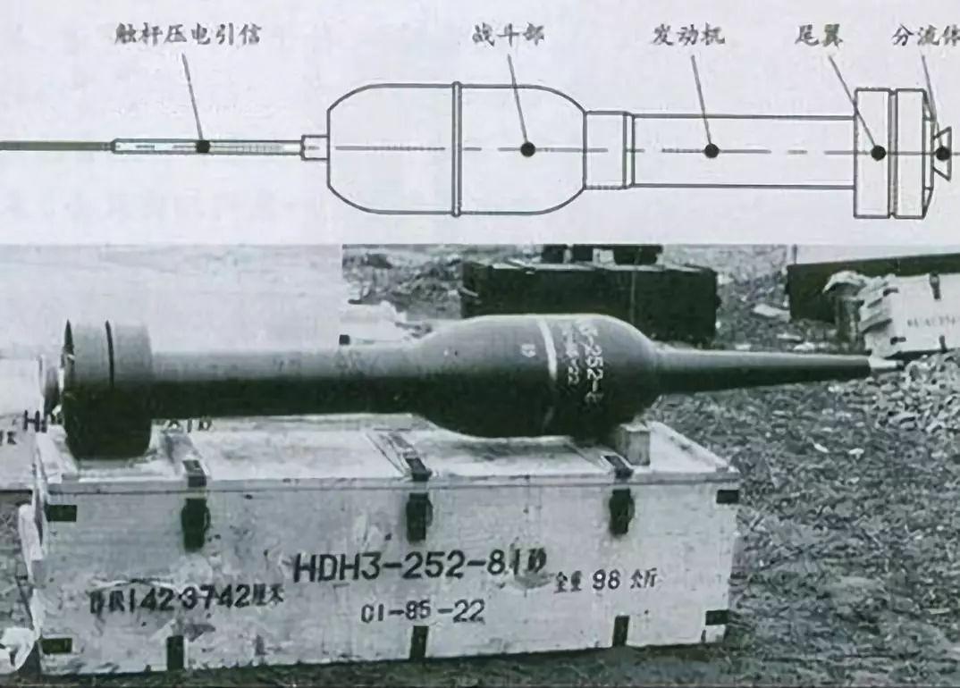 81系列火箭扫雷弹和其结构图