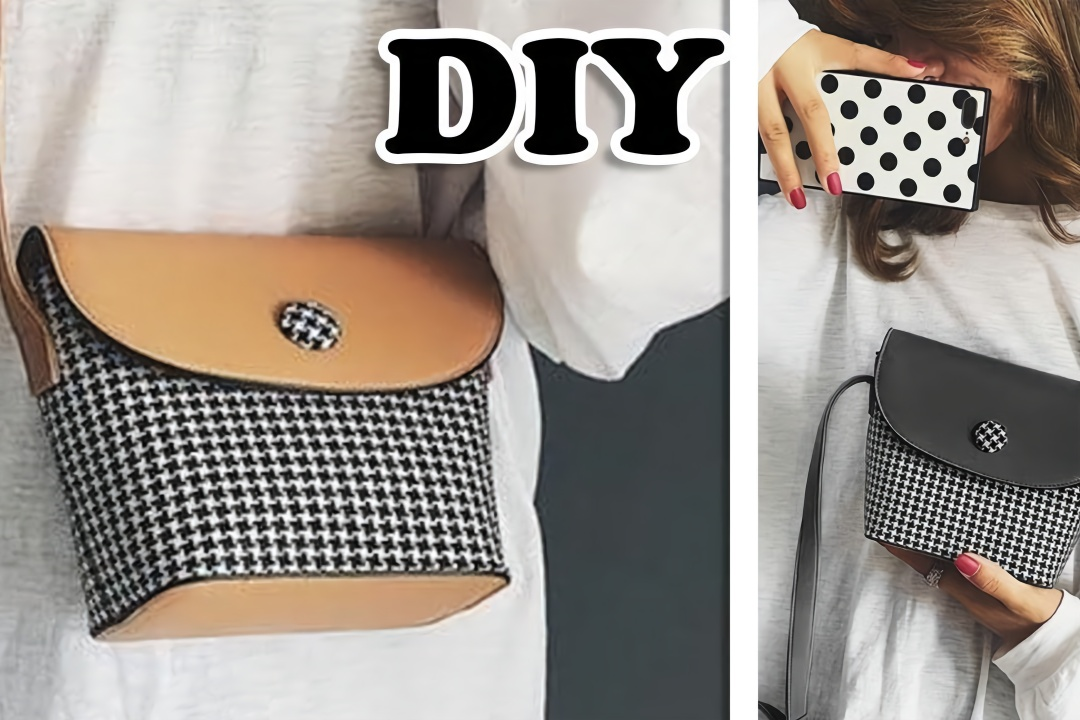 教你做漂亮时尚的千鸟格包包,做法简单,手工diy